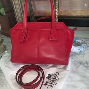 Coach Red Leather bag w/ Dust bag